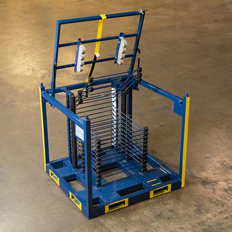 Steel Shipping Rack blue