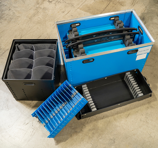 Injection Molded and Plastic Corrugated Totes and Inserts